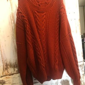 Sweaters - VINTAGE IRISH WOOL CABLEKNIT SWEATER